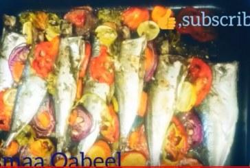 قالب السمك بالخضروات شهي ولذيذ مع أسماء قابيل